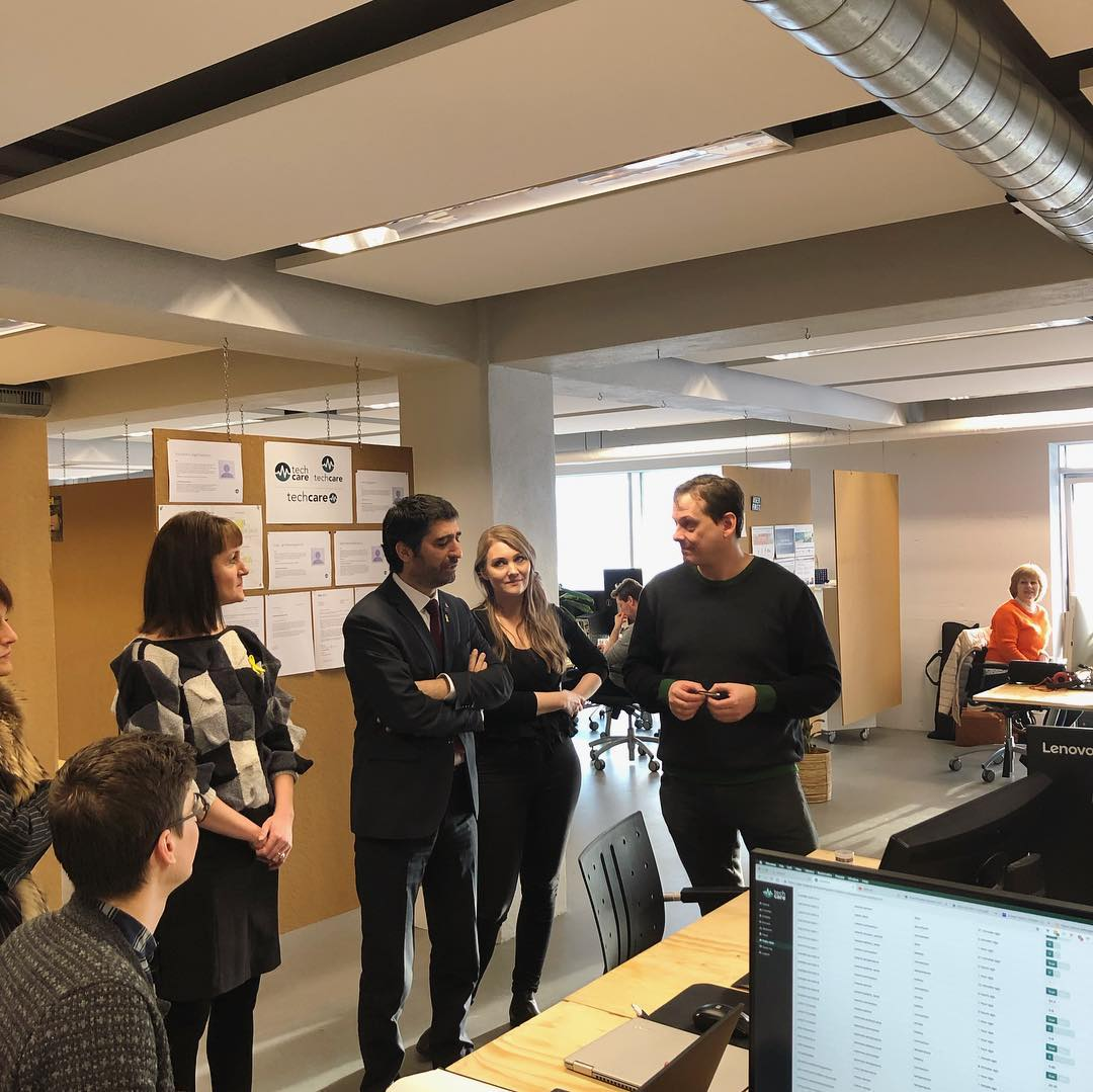 Image when Catalan minister visited TechCare